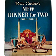1964 Betty Crocker's New Dinner For Two Cookbook, RARE First Edition, First Printing, Oversize, Vintage