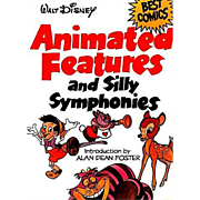 Walt Disney Animated Features and Silly Symphonies, Illustrated, 1980 1st Ed, Cartoons, Comics, Vintage