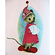 1966 'Santa Mouse' Illustrated Christmas Story, RARE First Edition, Holiday, Vintage