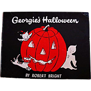 1958 'Georgie's Halloween' Robert Bright Illustrations, First Edition, Ghost Story, Children's Series, Vintage