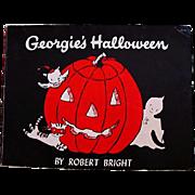 1958 'Georgie's Halloween' Robert Bright Illustrations, First Edition, Ghost Story, Children's Series, Vintage