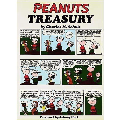 1968 'Peanuts Treasury' DJ, Stated First Edition, Cartoons, Charlie Brown, Charles Schultz, First Printing, Snoopy, Comic Strip