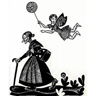 RARE 1928 'The Fairy Shoemaker', Poetry, First Edition, Boris Artzybasheff, Art Prints, Fairy Tales, Walter de la Mare, William Allingham