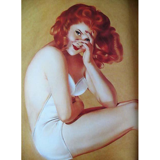 1991 'Varga', 1940's Calendar Art, Pin-Up Girls, Cheesecake, Esquire Magazine, Alberto Vargas, Erotic Art, Sex Symbol, DJ, First Edition