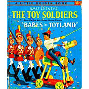"""Walt Disney's 'The Toy Soldiers' 1961 First Edition, """"A"""", Little Golden Book, #D99, Babes In Toyland Movie"""