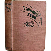 1944 Agatha Christie 'Towards Zero', RARE First Edition, Red Badge Mystery, Wartime, Hardcover, Miss Marple