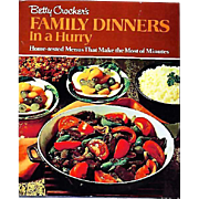 1970 Betty Crocker's Family Dinners in a Hurry, RARE First Edition, Stated First Printing, Oversize, Vintage, Meal Planning