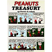 1968 'Peanuts Treasury' Stated First Edition, First Printing, Unclipped DJ, Cartoons, Charlie Brown, Charles Schultz, Snoopy, Comic Strip, Hardcover