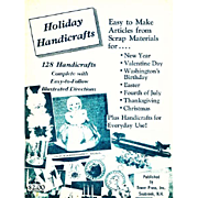 1966 'Holiday Handicrafts' Crafts, RARE First Edition, Decorations, Christmas, Scrap, Dolls, Stuffed Toys, Illustrated, Barbie Doll, Baby, Bride, Teddy Bear, Puppy Dog Bag, Valentines Day, Easter, Out-of-Print