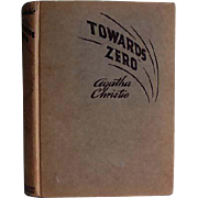 1944 Agatha Christie 'Towards Zero', RARE First Edition, Red Badge Mystery, Wartime, Hardcover, Miss Marple, Superintendent Battle