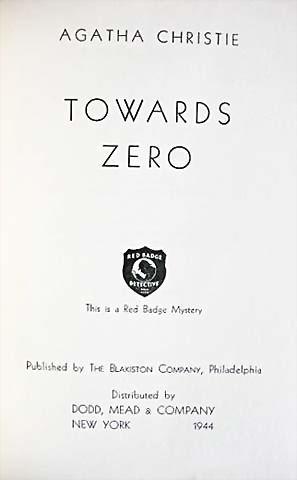 towards zero agatha christie pdf