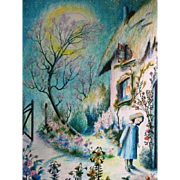 1987 'The Snow Queen', RARE First Edition, Hans Christian Anderson, Bernadette Watts Illustrations, Paintings, Fairy Tale, Hardcover, Out-of-Print, Pages MINT