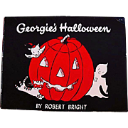 1958 'Georgie's Halloween' Robert Bright Illustrations, RARE First Edition, Ghost Story, Georgie the Ghost Series, Children's Series, Halloween Story, Vintage