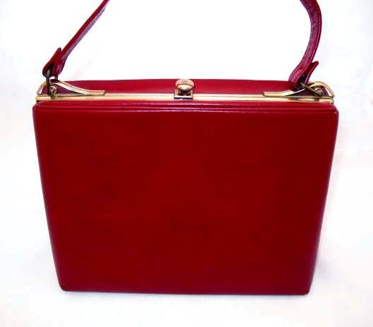 STYLISH Vintage Red Leather Purse – MAD MEN Fashion from ...