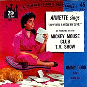 Annette Funicello SCARCE 'Mickey Mouse Club' - 1962 Disneyland Record / Television / Children's / Vintage