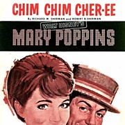 1963 1st Ed Disney MARY POPPINS 'Chim Chim Cher-ee' – Sheet Music / RARE / Movie Musicals
