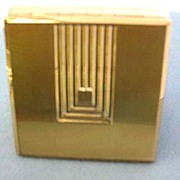 ART DECO 1930's 'Signed' Max Factor Hollywood Compact – Goldtone / Vintage /  FASHION / Rare