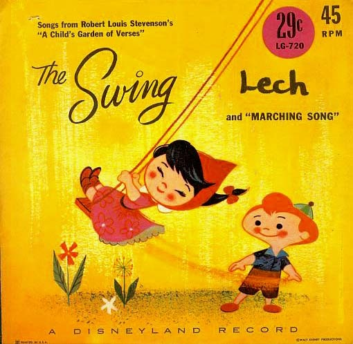 SCARCE 1961 Disneyland Record 'The Swing' – Child's Garden of Verses / DISNEY / Vintage
