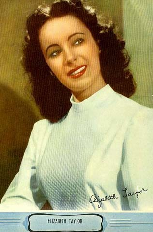 1950's 'Elizabeth Taylor' Movie Memorabilia Photographic Print - Promotional Studio Giveaway / Ephemera