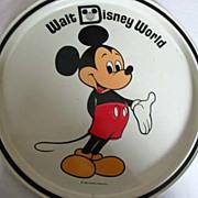 1960's MICKEY MOUSE Walt Disney World Tin Tray, Florida - Vintage Walt Disney Productions, Cartoon Characters