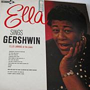 1950's 'Ella Sings Gershwin' Record, Ella Fitzgerald, Jazz - George Gershwin, Ellis Larkin Piano, Decca, LP, Vintage