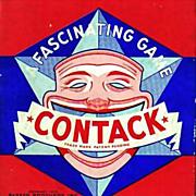 1939 Parker Brothers Contack Game, Original Box, Complete, Vintage