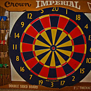 "RARE 17"" English Professional Dart Board, Unused, 1970's - Double-sided, Crown Imperial, Made In England, Vintage"