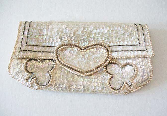 GORGEOUS 'La Regale' Sequined Evening Bag, Hand Made, Vintage, Japan, Beaded, Clutch, Designer