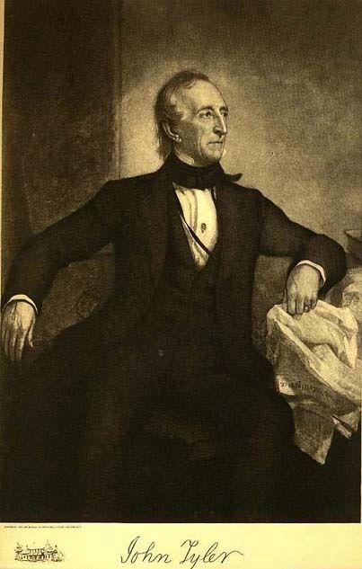 1907 Antique 'John Tyler' Presidential Portrait, Fine Art, Antique Art, Gravure Print, History