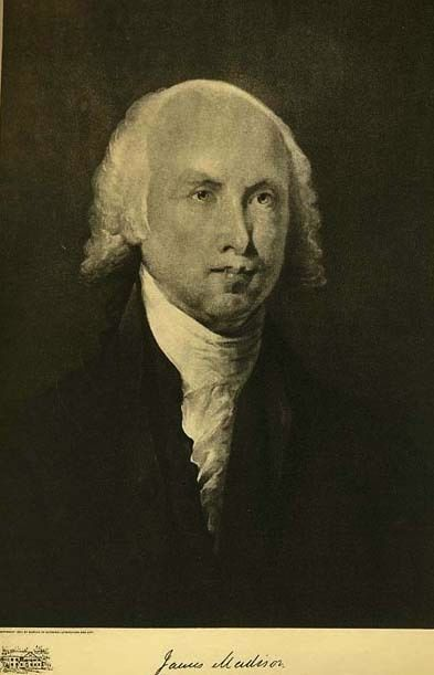 1907 Antique 'James Madison' Presidential Portrait, Fine Art, Antique Art, Gravure Print, History