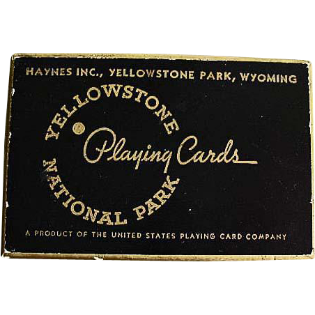 1943 'Yellowstone National Park' Souvenir Playing Cards, Photography, Official Yellowstone Photographer, Frank Jay Haynes, Rare MINT Vintage Unopened Deck, Scenic, Bridge, Wyoming