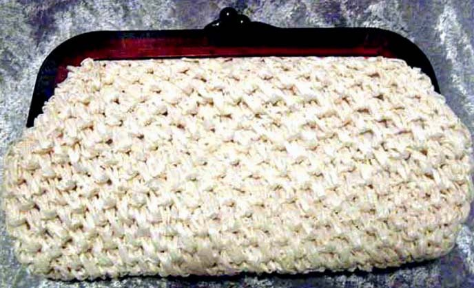FABULOUS 1950's Vintage 'La Regale' Straw Purse --  STYLISH Lucite Frame / Fashion