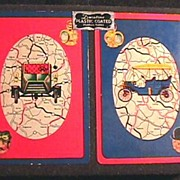 Rare 1950's CARS Double Deck Playing Cards w/ Original Box - ARRCO / Vintage /