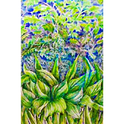 EXQUISITE Original Drawing 'Meditation on Nature' Series by Judith Jaffe, Signed, Original Art, Nature, Botanical, Flowers, Garden