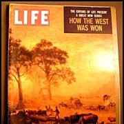 RARE April 1959 Life Magazine 'How The West Was Won' -  Dr. Seuss / Native American / Bob Hope