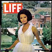 Vintage Life Magazine with Sophia Loren in Villa  -  Sept 1964