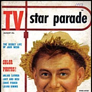RARE August, 1953 'TV Star Parade' Magazine - Lucille Ball / Desi Arnez / Eddie Fisher /  Vintage / ENTERTAINMENT