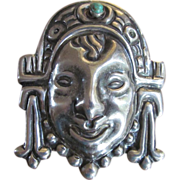 Vintage Mexican Pin 1940s Silver
