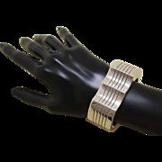 Vintage Artie Yellowhorse Bracelet Modernist Navajo Silver