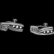 Vintage Los Castillo Earrings Taxco Silver