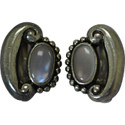 Vintage Antonio Pineda Earrings 970 Moonstone