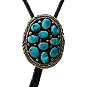 Navajo Silver Bolo Tie Turquoise LaRose