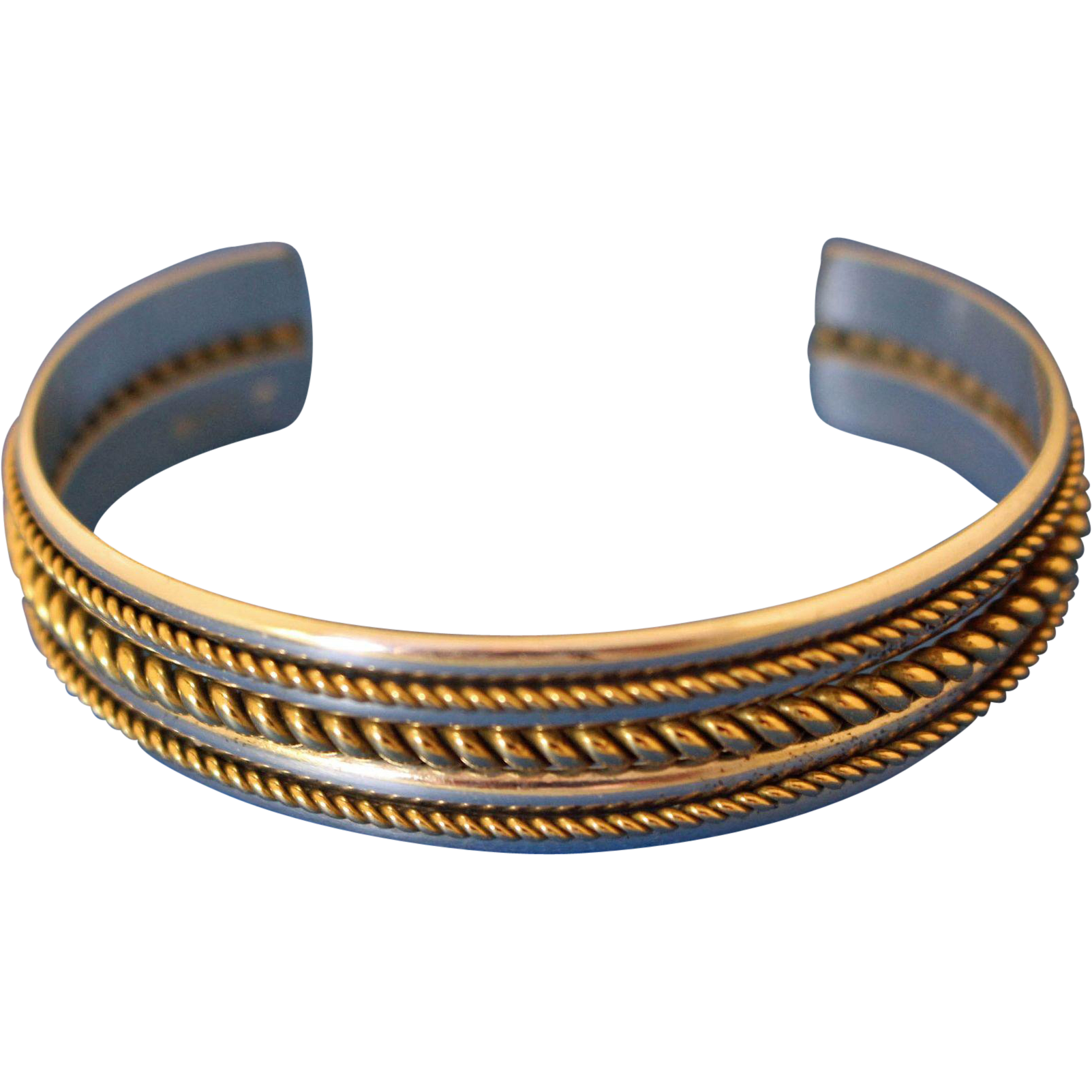 vintage navajo silver cuff bracelet from