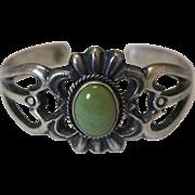 Vintage Navajo Silver Bracelet Harrison Bitsui