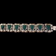 Vintage Silver Mexican Bracelet 1940s