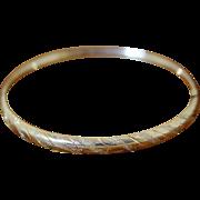 Vintage 14K Gold Bangle Bracelet Expandable