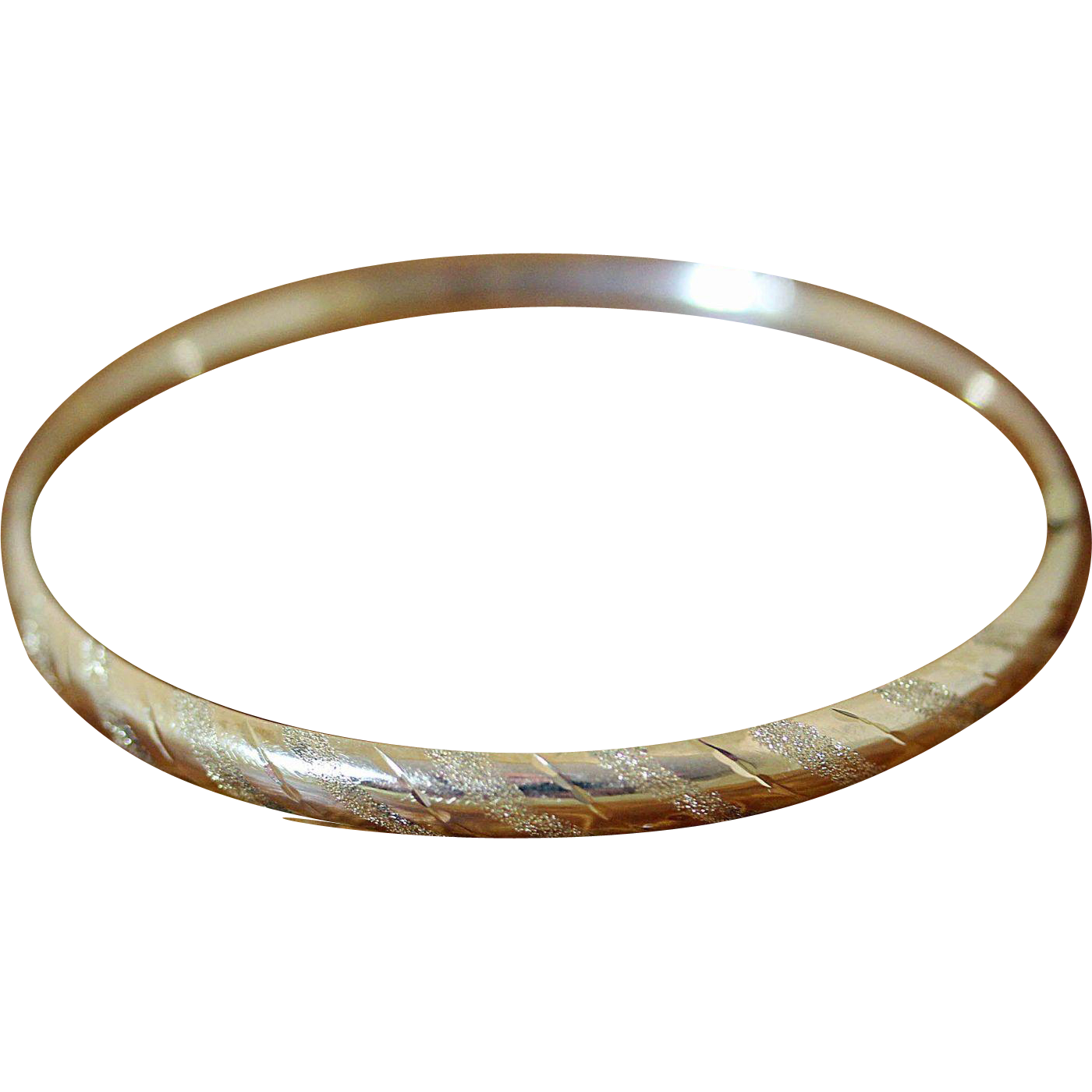 vintage 14k gold bangle bracelet expandable from
