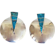 Vintage Navajo Silver Earrings Tracey Knifewing