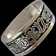 Vintage Taxco Silver Cuff Bracelet Los Ballesteros