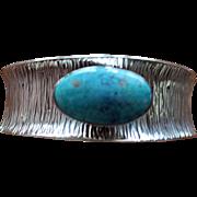 Silver Navajo Bracelet Turquoise Cuff Peterson Johnson